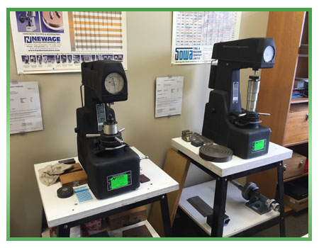 Materials & Hardness Testing